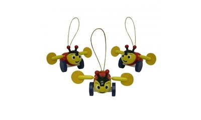 Mini Buzzy Bee Christmas Decoration (1 pc)