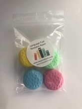 Homepage macaron erasers with logo