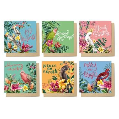 Christmas Card Set Floral Paradiso