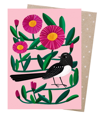 Willie Wagtail Blank Greeting Card