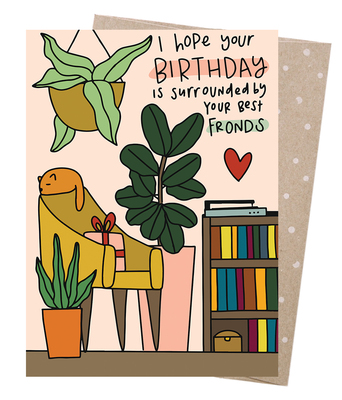 Best Fronds Blank Greeting Card