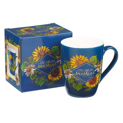Mug You are my Sunshine Navy Floral