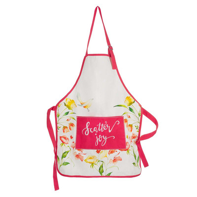 Woven Apron with Embroidery
