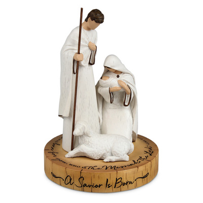A Savior is born - Holy Family Sculpture