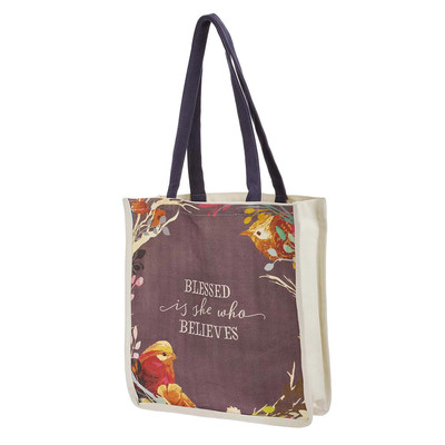 Tote Bag - Blessed is she who believed