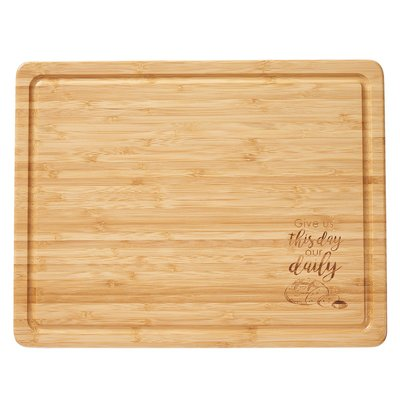 Cutting Board Bamboo Give Us This Day Large