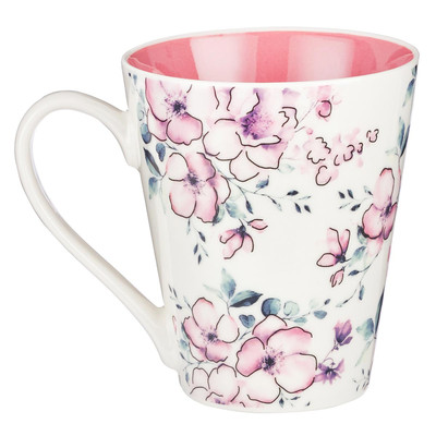 Mug Trust Proverbs 3:5 Pink Floral