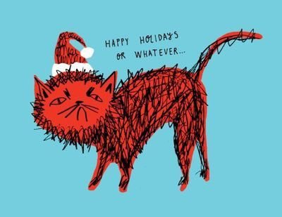 Snitty Kitty Holiday Card