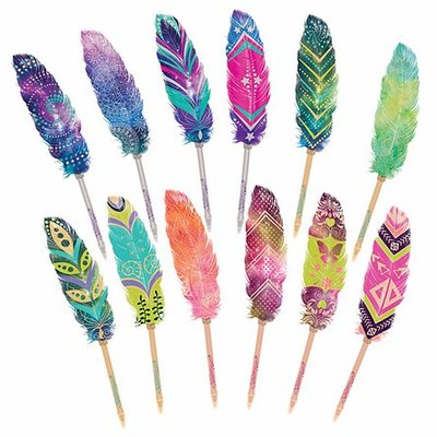 Feather Quill Pen (Nebulous Stars = Hazelia, yellow)