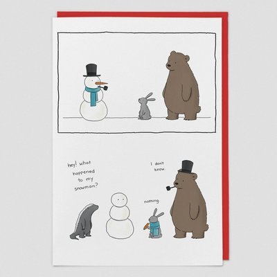 Card - What Happened to My Snowman?