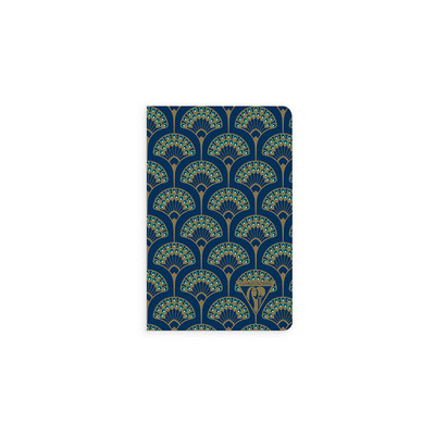 Neo Deco - Sewn Spine Pocket Ruled Notebook - Peacock Blue