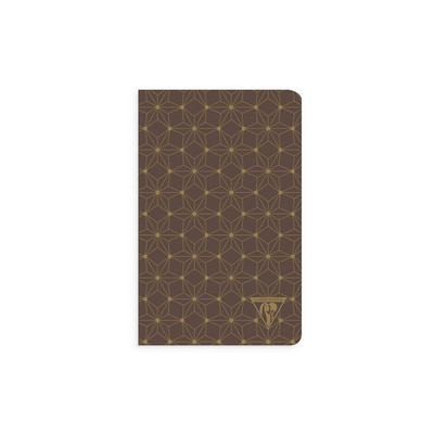 Neo Deco - Sewn Spine A6 Ruled Notebook - Mahogany