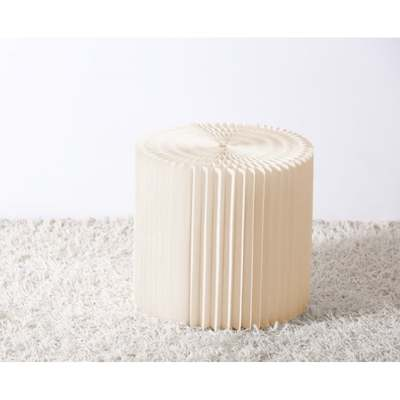 Concertina Foot Stool White D50cm
