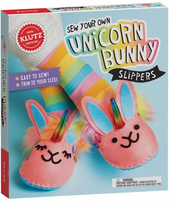 Sew Your Own Unicorn Bunny Slippers (Klutz)
