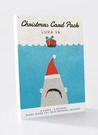 BIP 0106 Shark/Possum Xmas cards 8pk