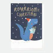 Xmas Cards Roarrrsome Christmas Mini