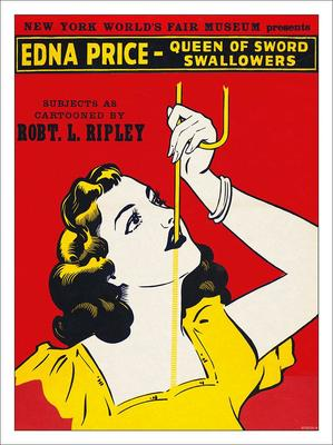 Edna Price Sword Swallower Circus Sideshow Poster Print