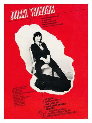 Johnny Thunders At The Lyceum Punk Poster Print