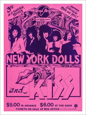 New York Dolls And Kiss Concert Poster Print