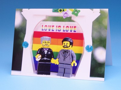 Card - BrickNetty LEGO Wedding Couple A