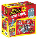 Real Pigeons Fight Crime Book and Puzzle Set 256 pieces