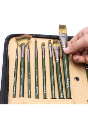 Signature Brush Set with Easel Wallet 17pc BMHS0044