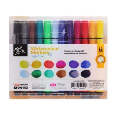 Signature Watercolour Markers 12pc Tri Grip MMPM0043