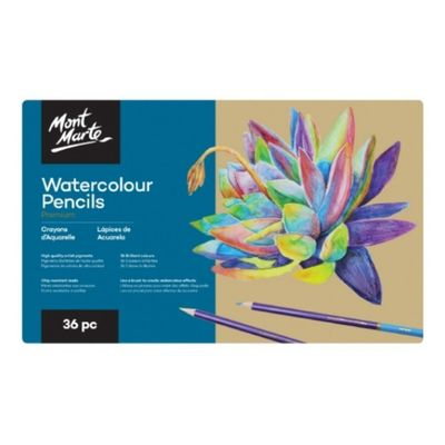 Premium Watercolour Pencils in Tin 36pc MPN0113