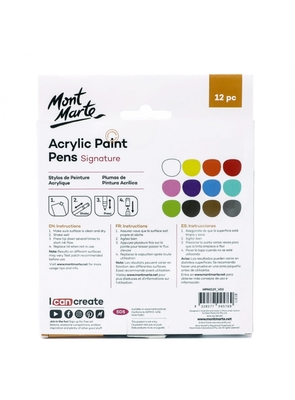 Signature Acrylic Paint Pens Fine Tip 1mm (0.039in) 12pc MPN0129