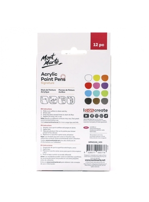 Signature Acrylic Paint Pens Broad Tip 3mm (0.12in) 12pcMPN0130