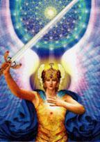 Archangel Michael Laminated Altar Card