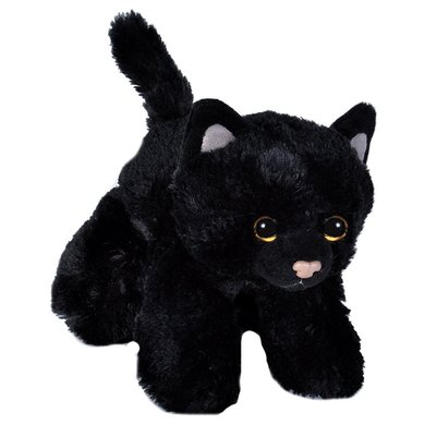 Mini Black Cat Plush Toy Wild Republic