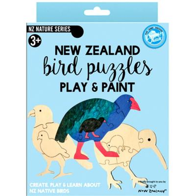 New Zealand Bird Puzzle (Paint & Play)