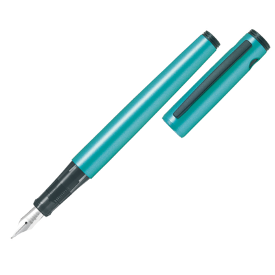 Pilot Metallic Emerald Blue Medium Explorer Fountain Pen