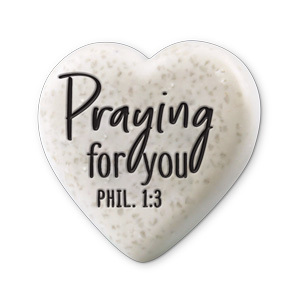 Heart Scripture stone - Praying for you