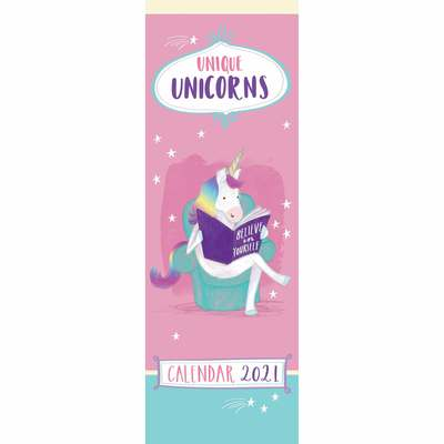 Unique Unicorns 2021 Wall Calendar