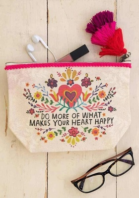 Canvas Pouch Do More Heart Happy