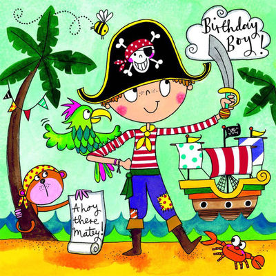 Pirate Birthday 36pc Jigsaw Card