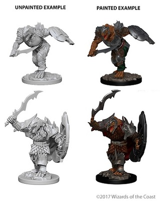 Dragonborn Male Fighter - D&D Nolzurs Marvelous Unpainted Miniatures