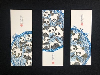 Bookmarks - Panda (set of 3)