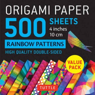 Origami Paper 500 Sheets Rainbow Patterns 4 (10 Cm) - Tuttle Origami Paper: High-Quality Double-Sided Origami Sheets Printed with 12 Different Patterns