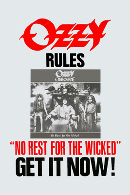 Ozzy Rules No Rest for the Wicked Poster Print