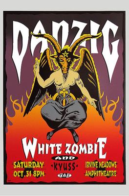 Danzig & White Zombie Poster Print