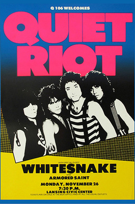 Quiet Riot & White Snake Poster Print