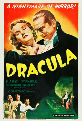 Dracula A Nightmare of Horror Poster Print