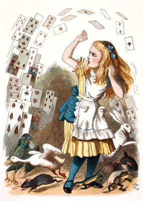 Card - ALICE AND THE SHOWER OF CARDS MG-312279
