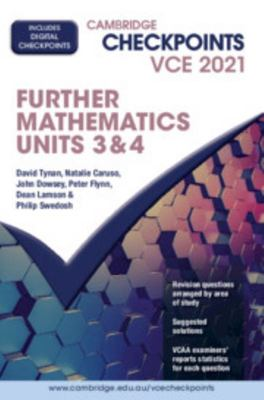 Cambridge Checkpoints VCE Further Mathematics Units 3 And 4 2021