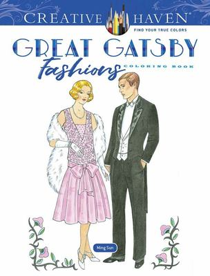 Creative Haven Great Gatsby Fashions Coloring Book