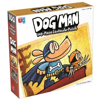 Dog Man 100-Piece Lenticular  Puzzle