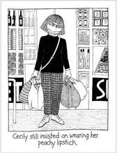 Homepage maleny bookshop cecily tea towel   peachy lipstick